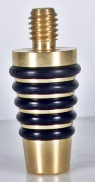 Brass whiskey bottle stopper