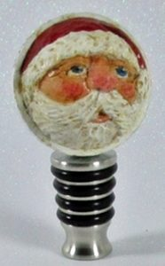 Santa carved in golf ball