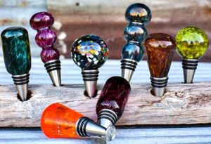 blown glass gift wine stoppers