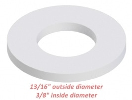 "nylon washer 3/8"" inside diameter"